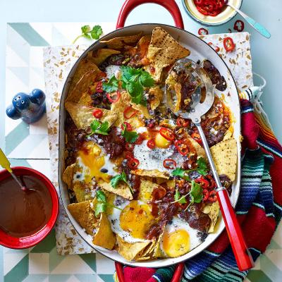Chilaquiles - breakfast nachos