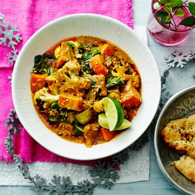 Charred cauliflower and coconut curry