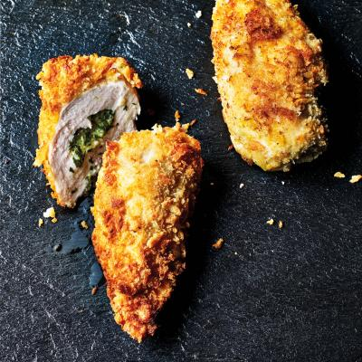 Tarragon and goats' cheese chicken kiev