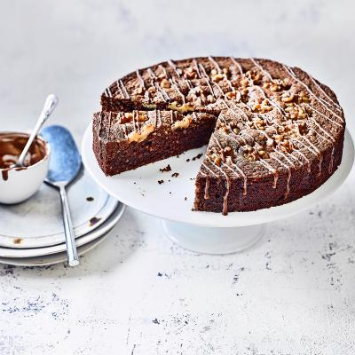 Swiss chocolate & walnut cake