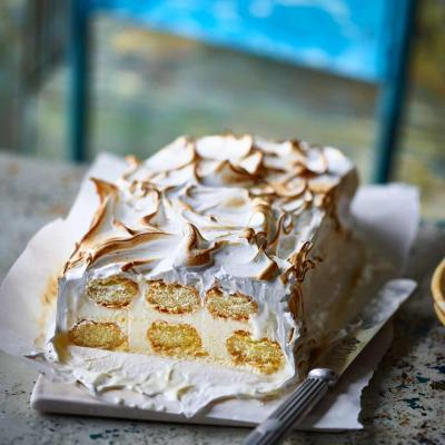 Lemon meringue ice cream loaf
