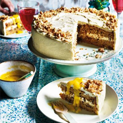 Parsnip and white chocolate cake