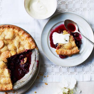 Cherry pie with a buttermilk crust