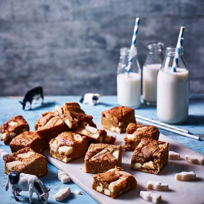 Milk bottle blondies