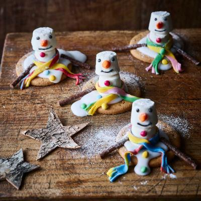 How to make melted snowman biscuits
