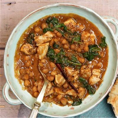 Sponsored: Chicken chickpea & spinach curry