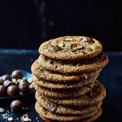 Malted Malteser cookies