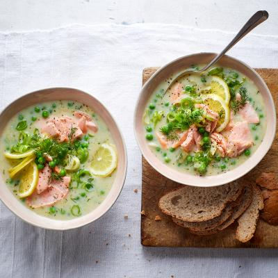 Salmon and dill cullen skink