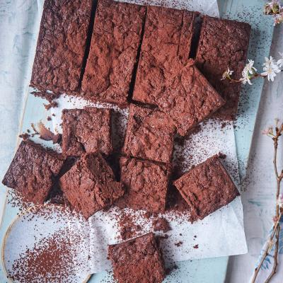 Dark chocolate, ginger and sweet potato brownies