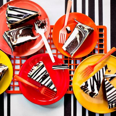 Zebra chocolate cheesecake