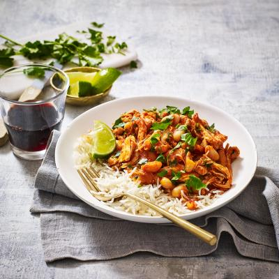 'Pulled' turkey chilli
