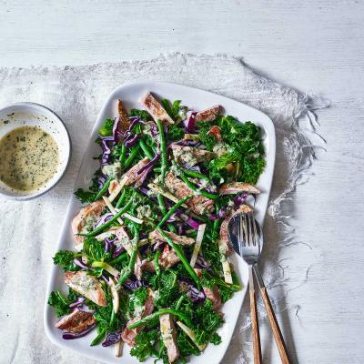 Pork and apple winter salad