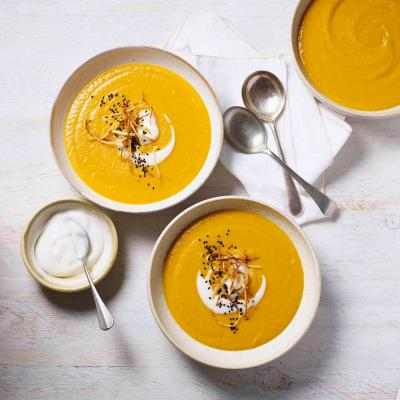 Carrot, parsnip and ginger soup