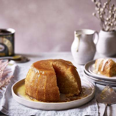 Classic steamed treacle pudding