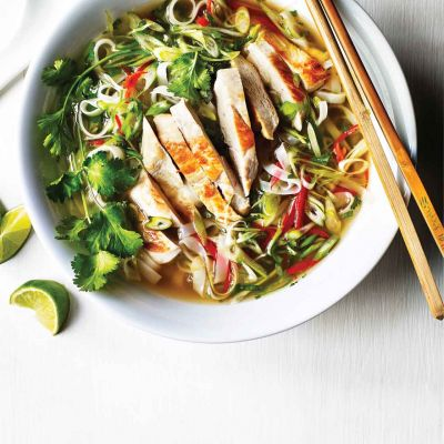 Vietnamese ginger chicken pho