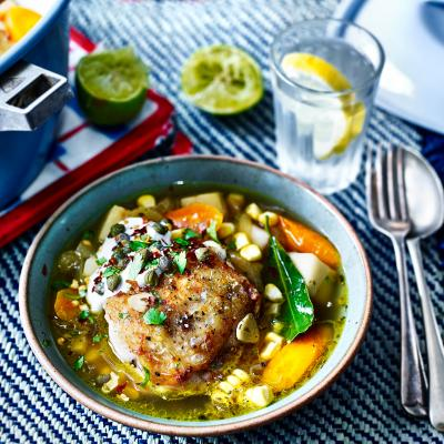 Colombian-style chicken stew