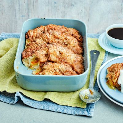 Marmalade croissant French toast bake