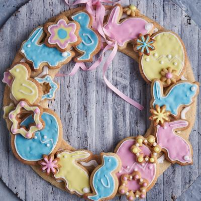 Easter biscuit wreath