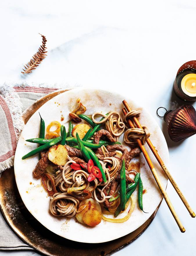Recipe: Sesame-soy beef and green bean stir-fry