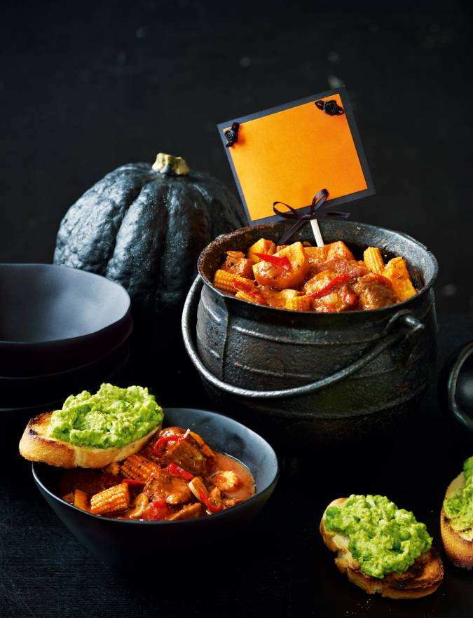 Recipe: Spicy spooky stew & ghoulish toasts