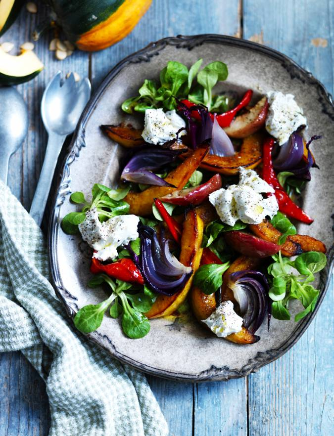Recipe: Roasted squash and apple salad with goats' cheese