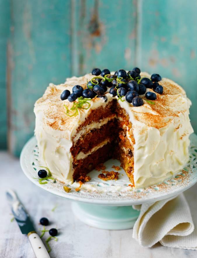 Carrot and pistachio cake Sainsbury s Magazine
