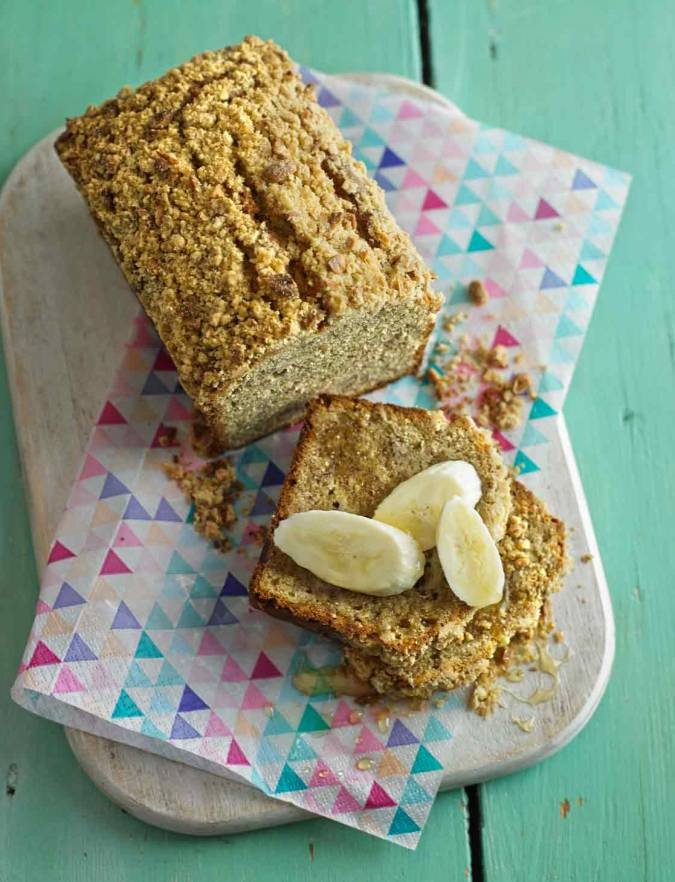 Recipe: Banana and peanut crumble loaf