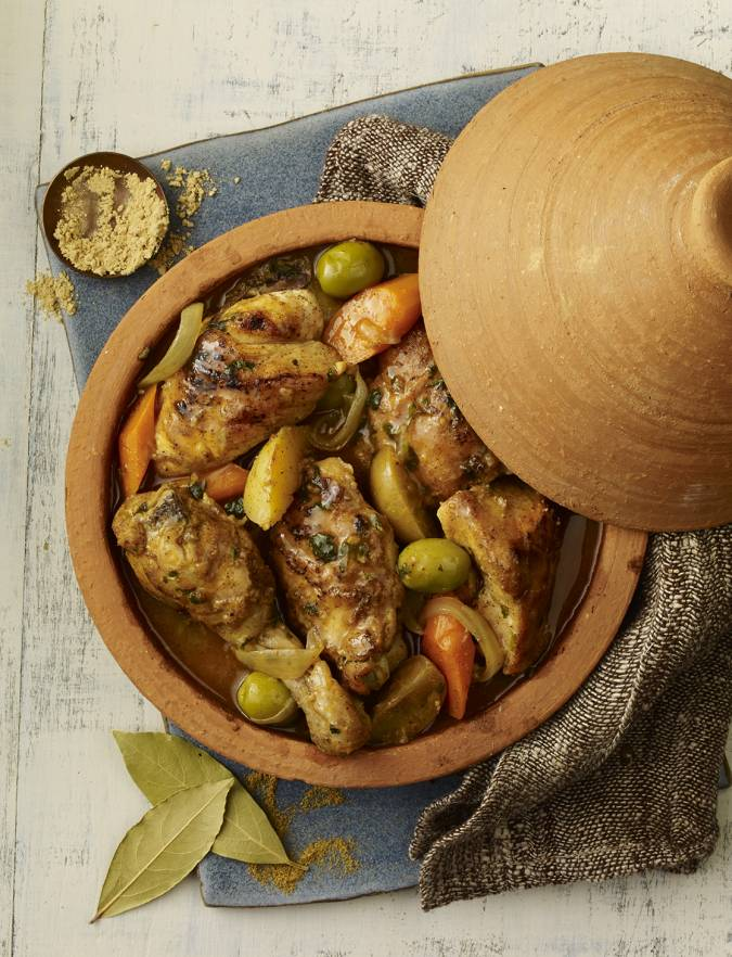Recipe: Spiced chicken tagine with preserved lemon and olives