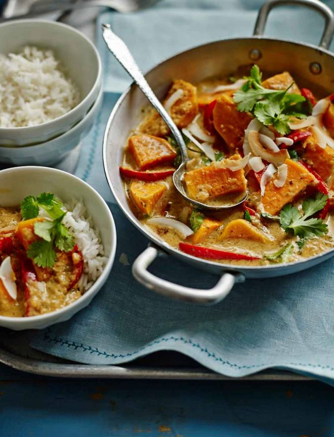 Thai Red Sweet Potato Red Pepper And Coconut Curry