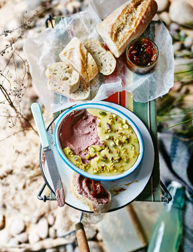 Recipe: Chicken liver pâté with pistachio nutty butter