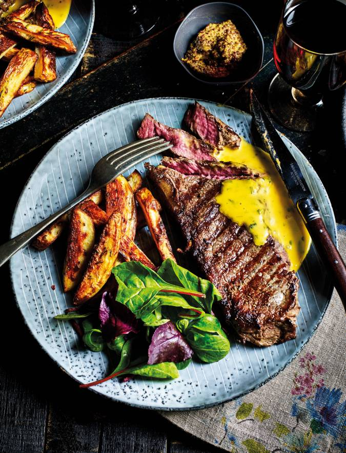 Recipe: Sirloin steaks with rosemary fries and cheat's Béarnaise