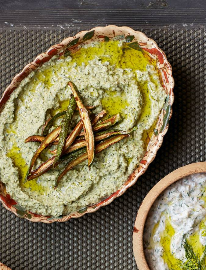 Recipe: Courgette and tahini dip
