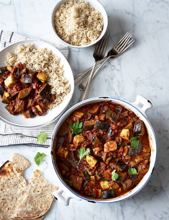 Recipe: Aubergine and halloumi curry