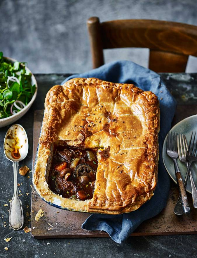 Beef and ale pie with pickled walnuts recipe | Sainsbury's ...