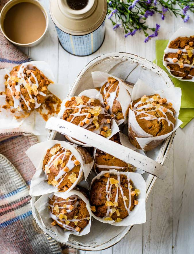Recipe: Toffee ginger muffins