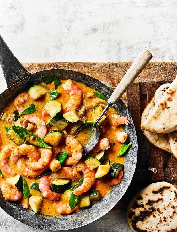 Recipe: Speedy coconut prawns