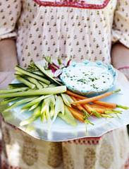 Recipe: Chilli and coriander dip with crudités
