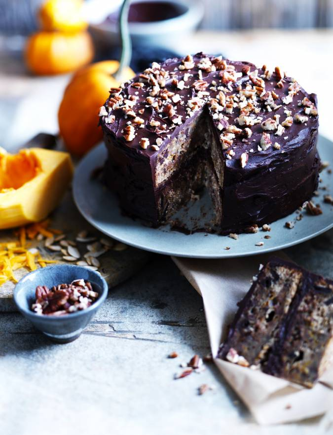 Recipe: Butternut, chocolate and toasted pecan cake