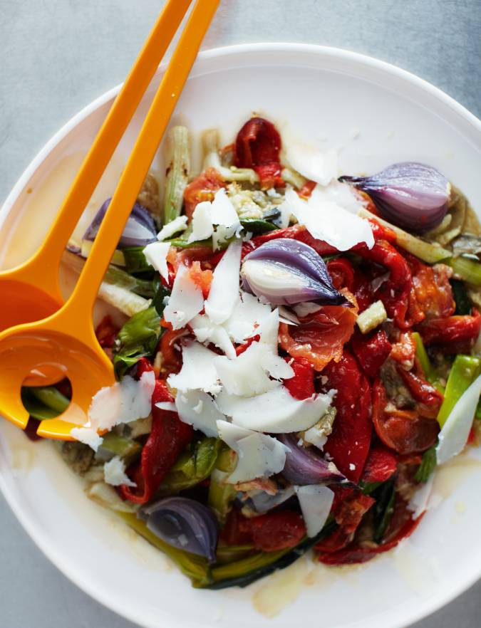 Recipe: Grilled vegetable salad with Manchego