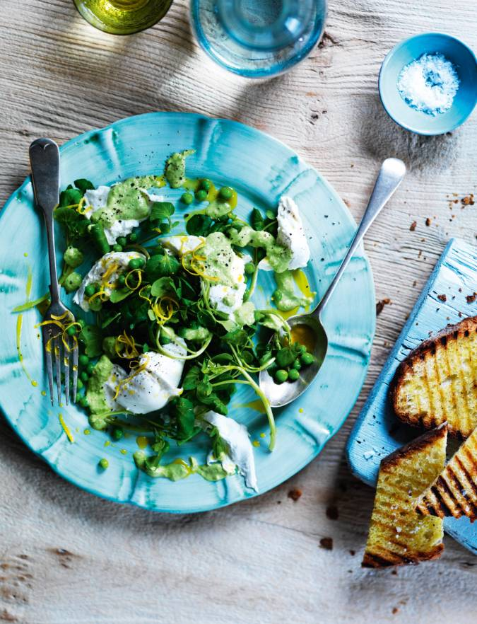 Buffalo Mozzarella And Pea Salad Sainsbury S Magazine