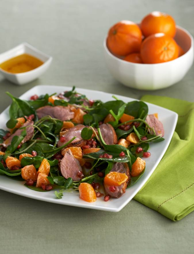 Recipe: Easy peelers and duck salad