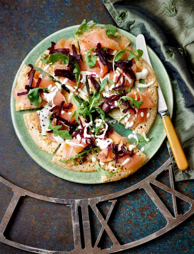 Recipe: Sharing 'blini' with smoked salmon and beetroot