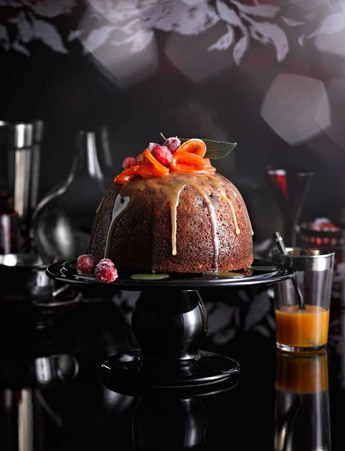 Recipe: Clementine, date and hazelnut Christmas pudding