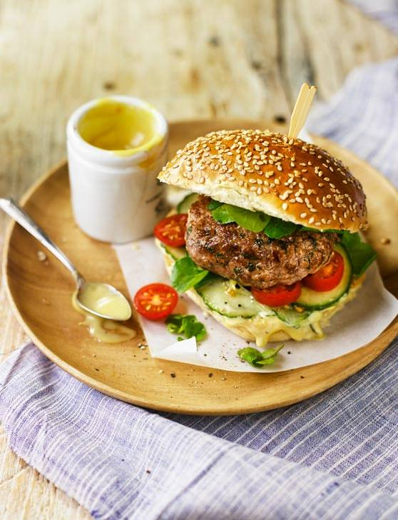 Recipe: Veal and Parmesan burgers with anchovy mayonnaise
