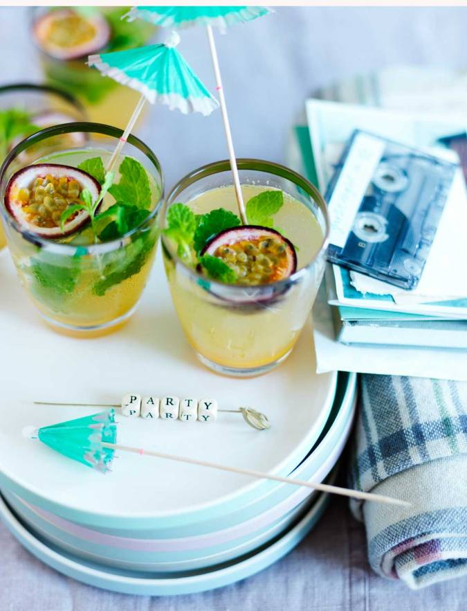 Recipe: Passion fruit, mint and lime rum cocktails