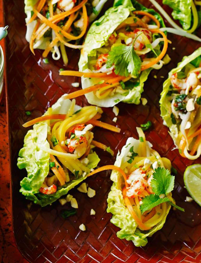 Recipe: Asian crayfish lettuce cups