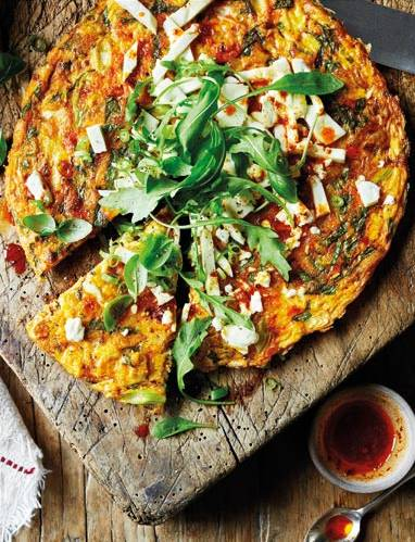 Recipe: Harissa, basil and feta frittata