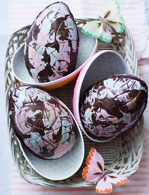 Recipe: Marbled Easter eggs
