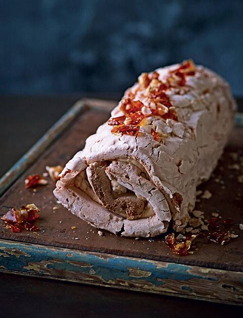 Recipe: Peanut meringue roulade