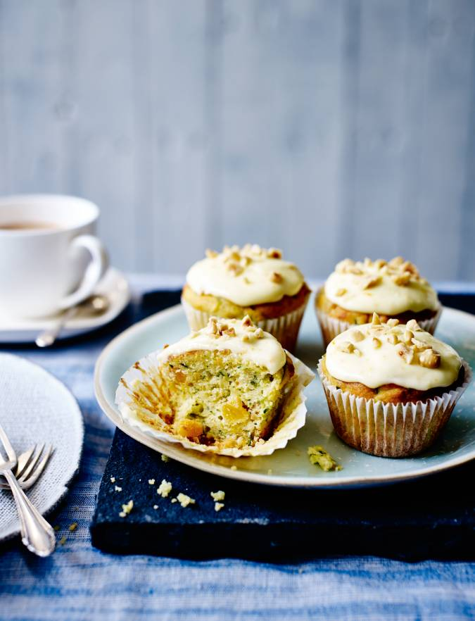 Recipe: Courgette, orange and hazelnut muffins